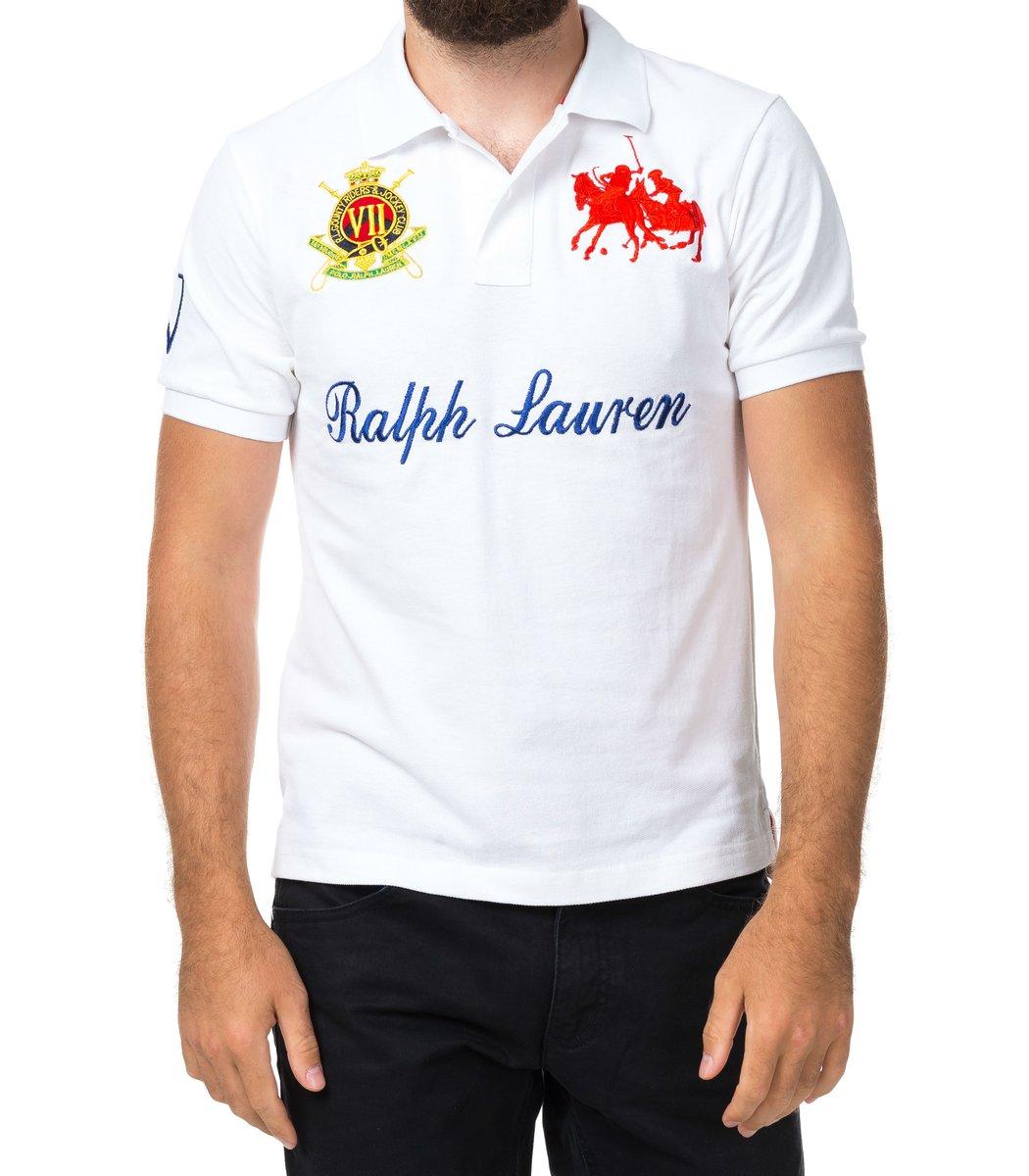 Мужская белая футболка поло Ralph Lauren R4 - белый - Вид 2