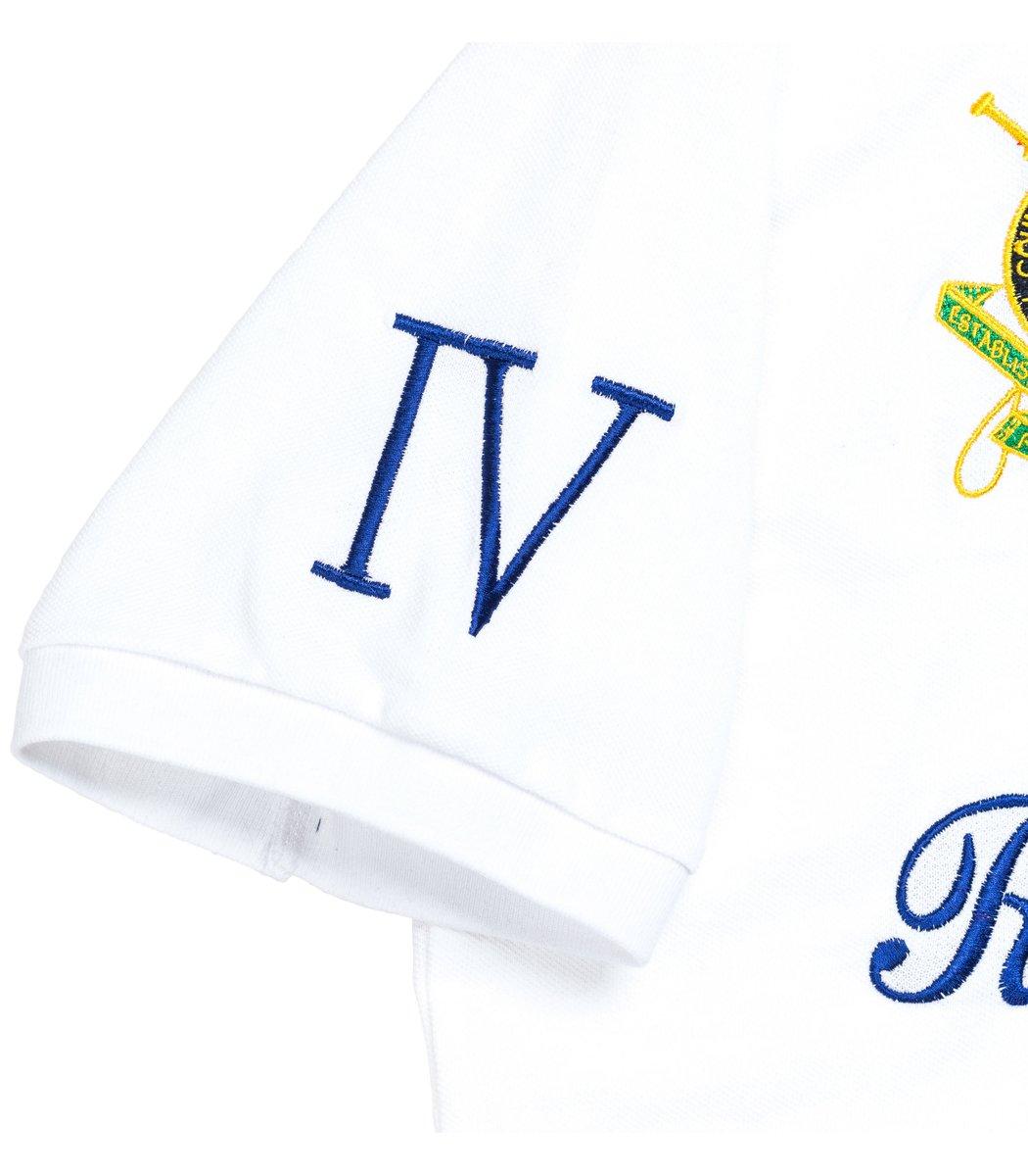Мужская белая футболка поло Ralph Lauren R4