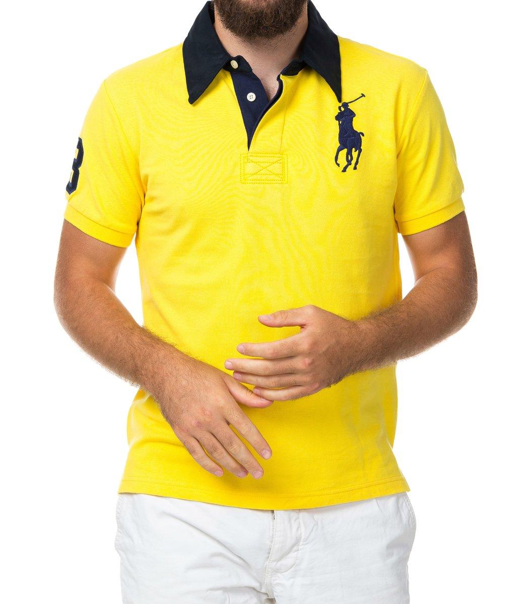 Мужская желтая футболка поло Ralph Lauren R2 - желтый - Вид 2