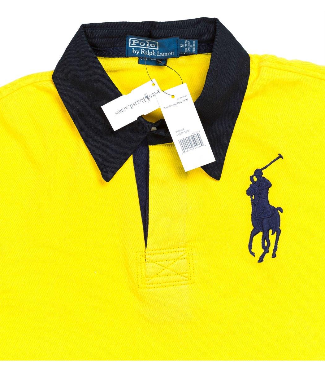 Мужская желтая футболка поло Ralph Lauren R2 - желтый - Вид 4
