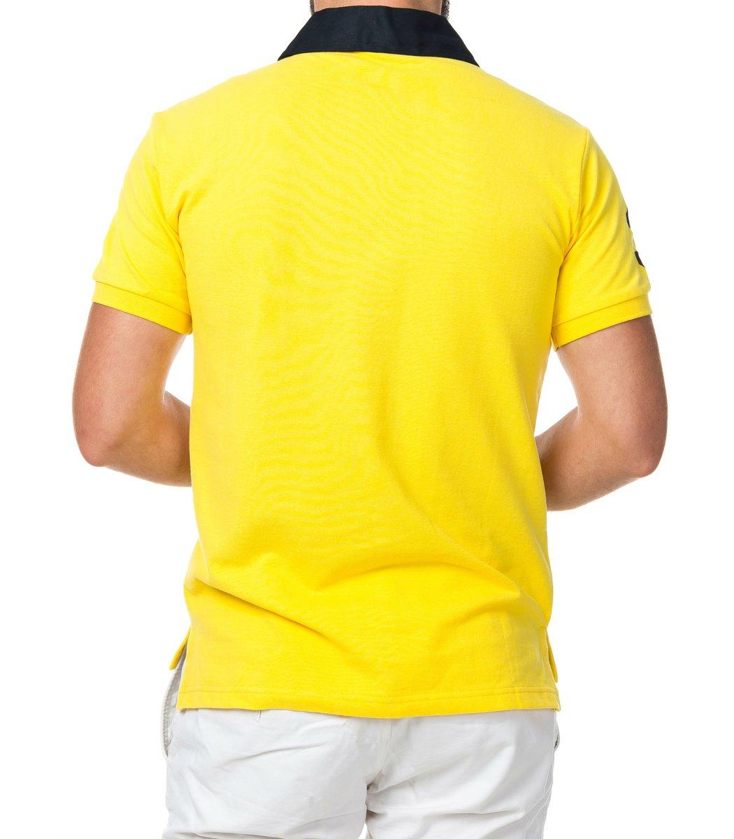 Мужская желтая футболка поло Ralph Lauren R2 - желтый - Вид 3