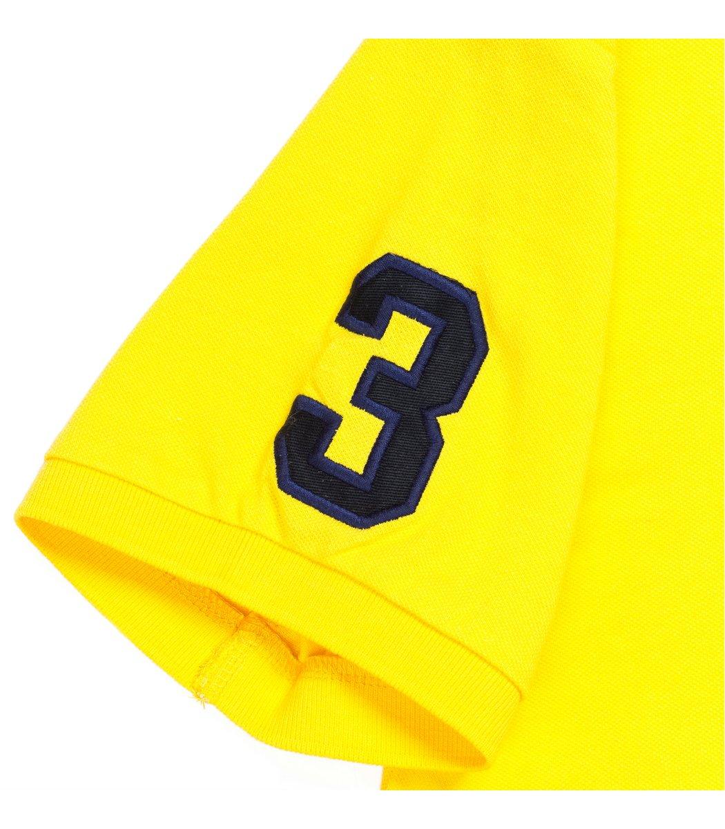 Мужская желтая футболка поло Ralph Lauren R2 - желтый - Вид 5