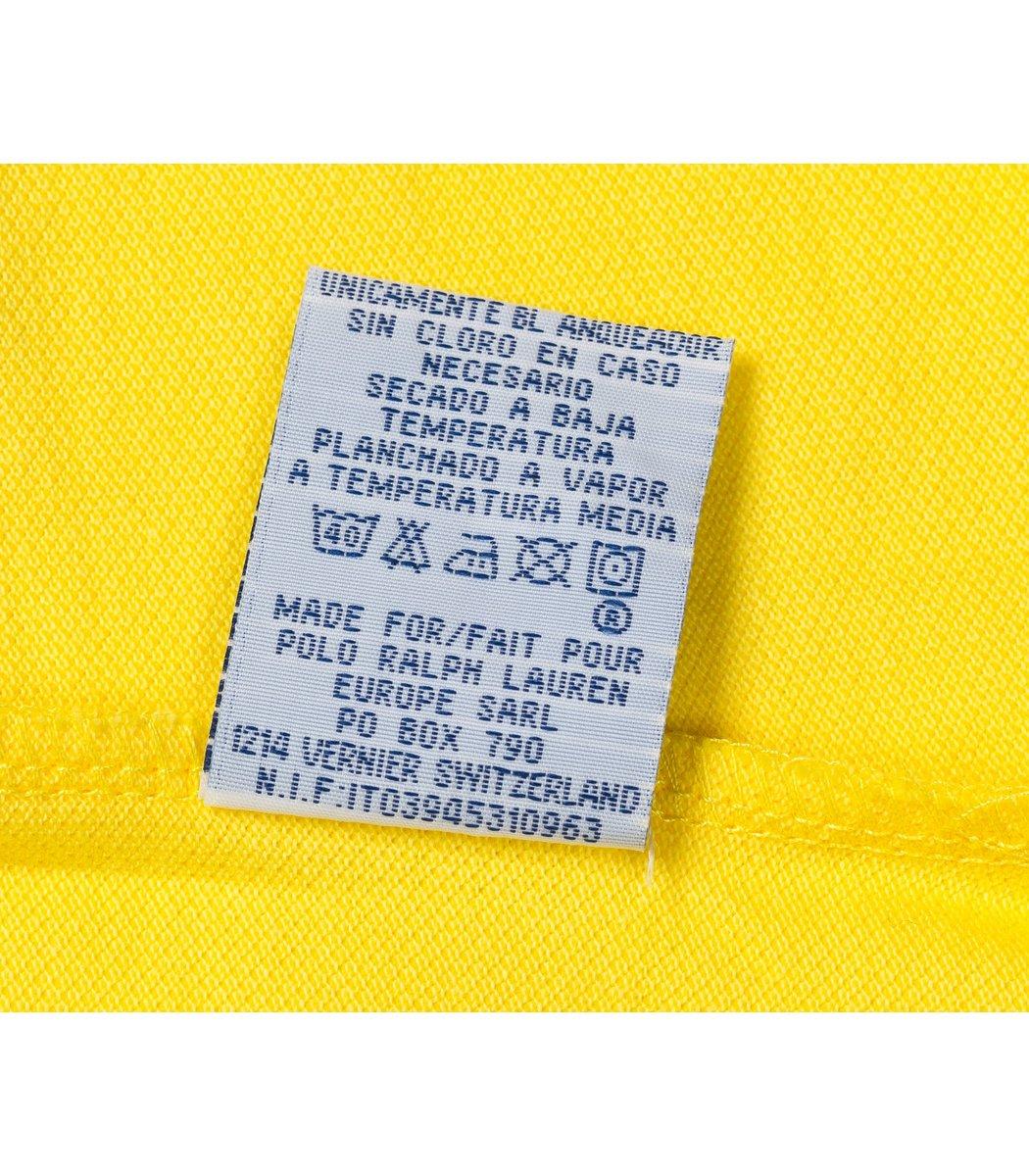 Мужская желтая футболка поло Ralph Lauren R2 - желтый - Вид 6