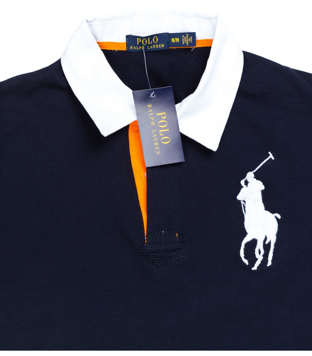 Мужская темно-синяя футболка поло Ralph Lauren R2