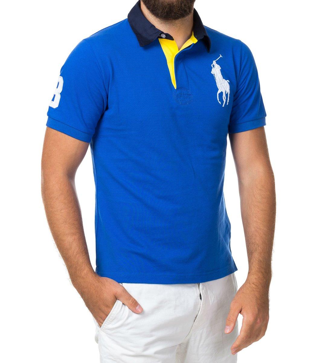 Мужская синяя футболка поло Ralph Lauren R2