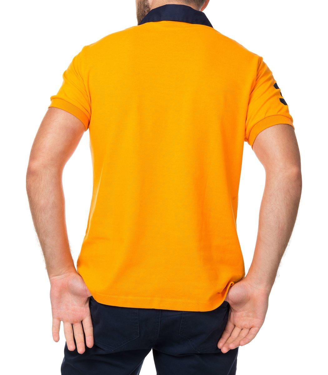 Мужская оранжевая футболка поло Ralph Lauren R2
