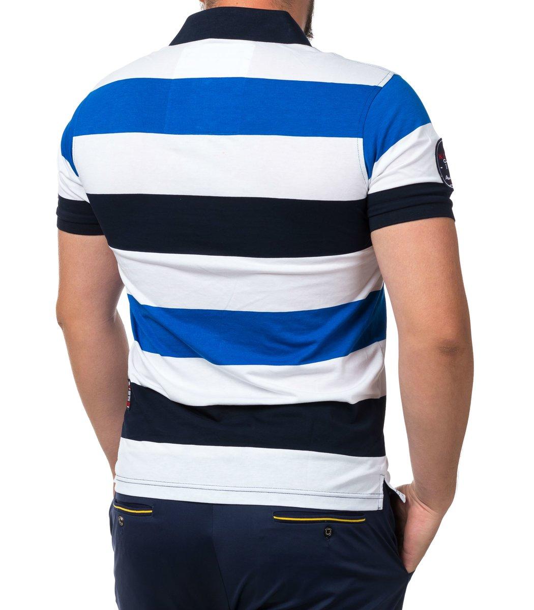 Мужская синяя футболка поло Paul&Shark P2