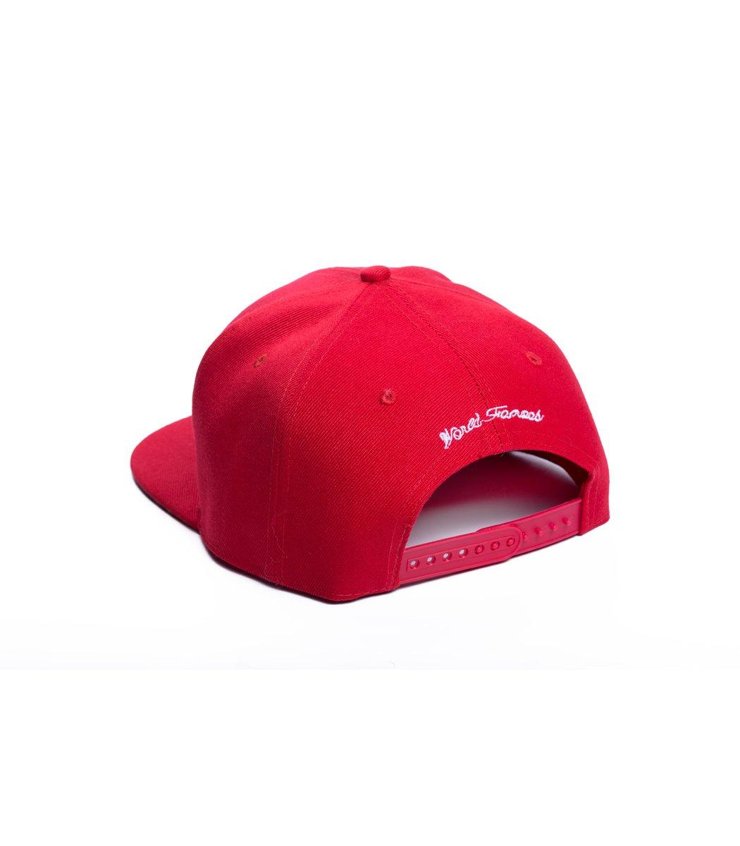 Бейсболка  Supreme USA Красный/красный