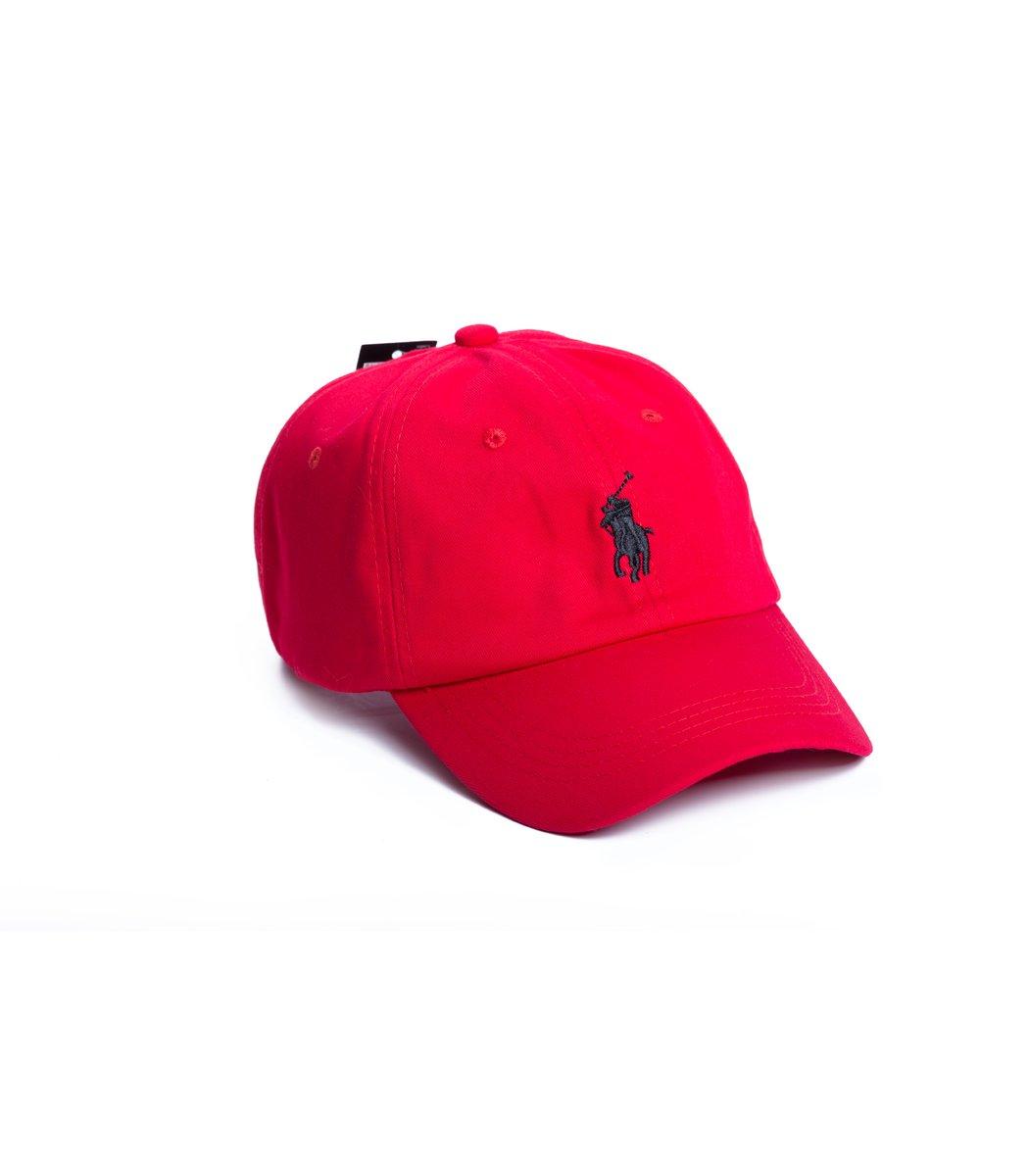 Кепка POLO Ralph Lauren Classic Красный/чёрный - Красный/чёрный - Вид 1