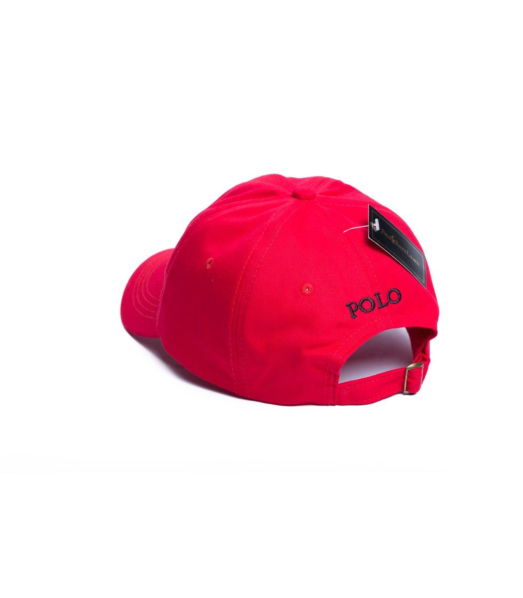 Кепка POLO Ralph Lauren Classic Красный/чёрный - Красный/чёрный - Вид 2
