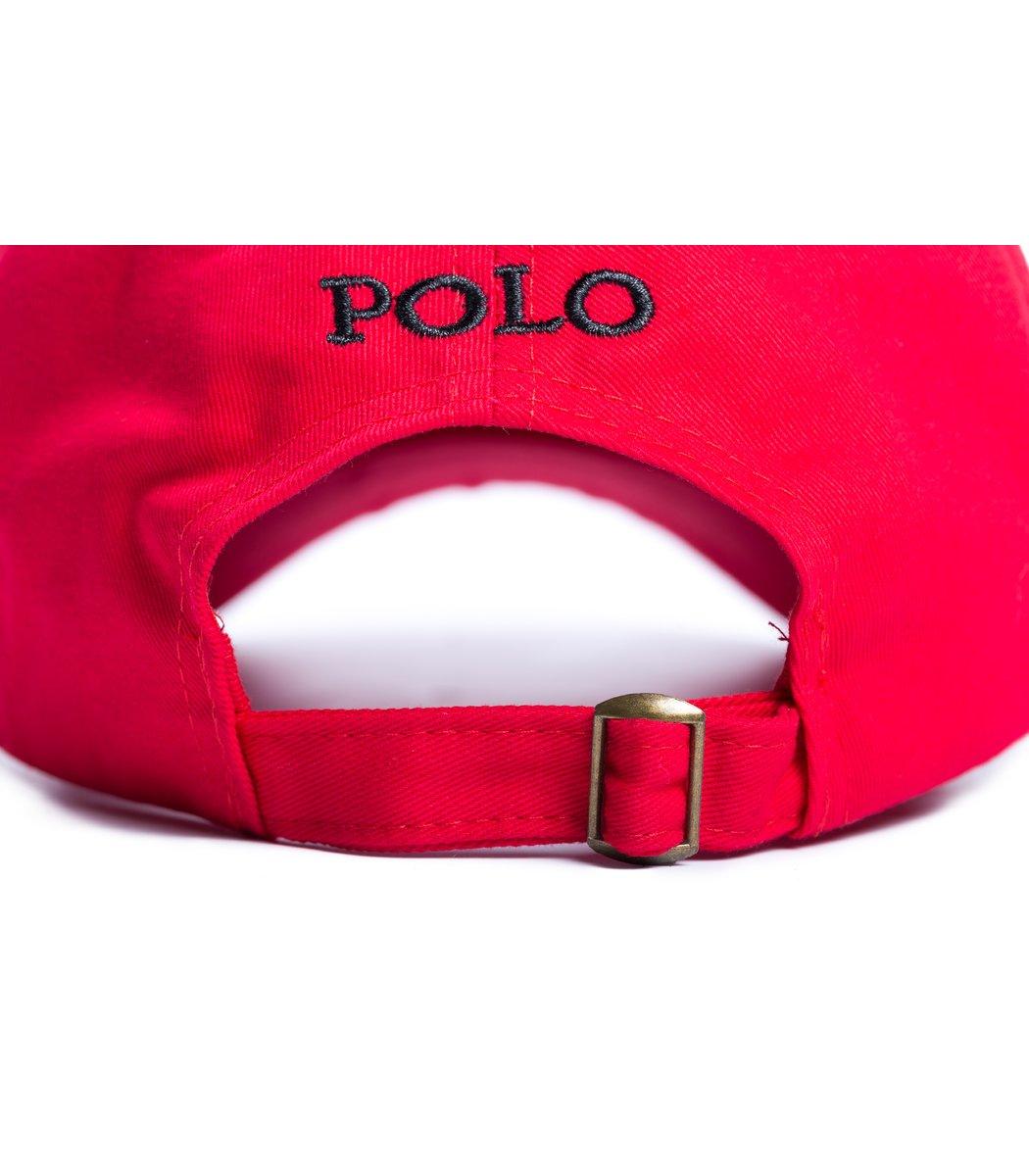 Кепка POLO Ralph Lauren Classic Красный/чёрный - Красный/чёрный - Вид 3