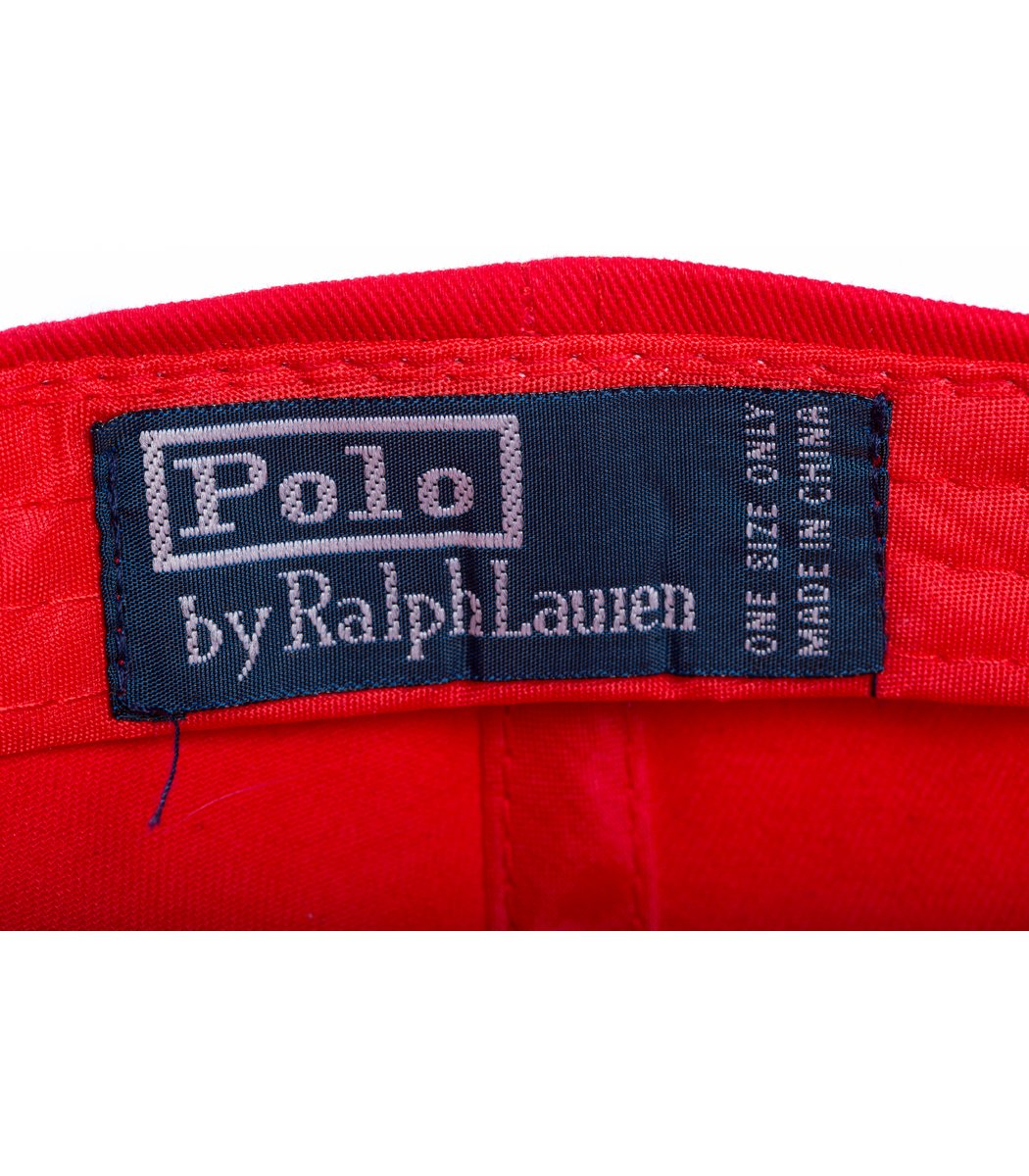 Кепка POLO Ralph Lauren Classic Красный/чёрный - Красный/чёрный - Вид 4