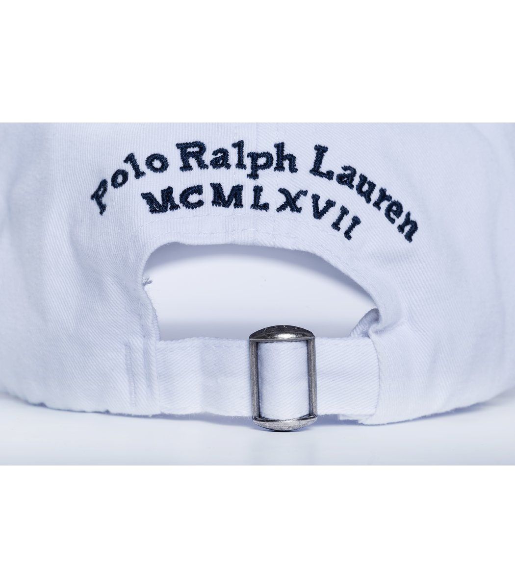 Кепка POLO Ralph Lauren Classic 3 Белый/синий - Белый - Вид 3