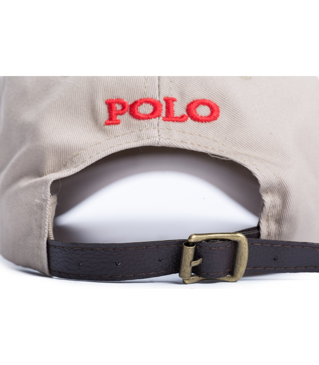 Кепка POLO Ralph Lauren Premiere Бежевый/красный - Бежевый - Вид 3