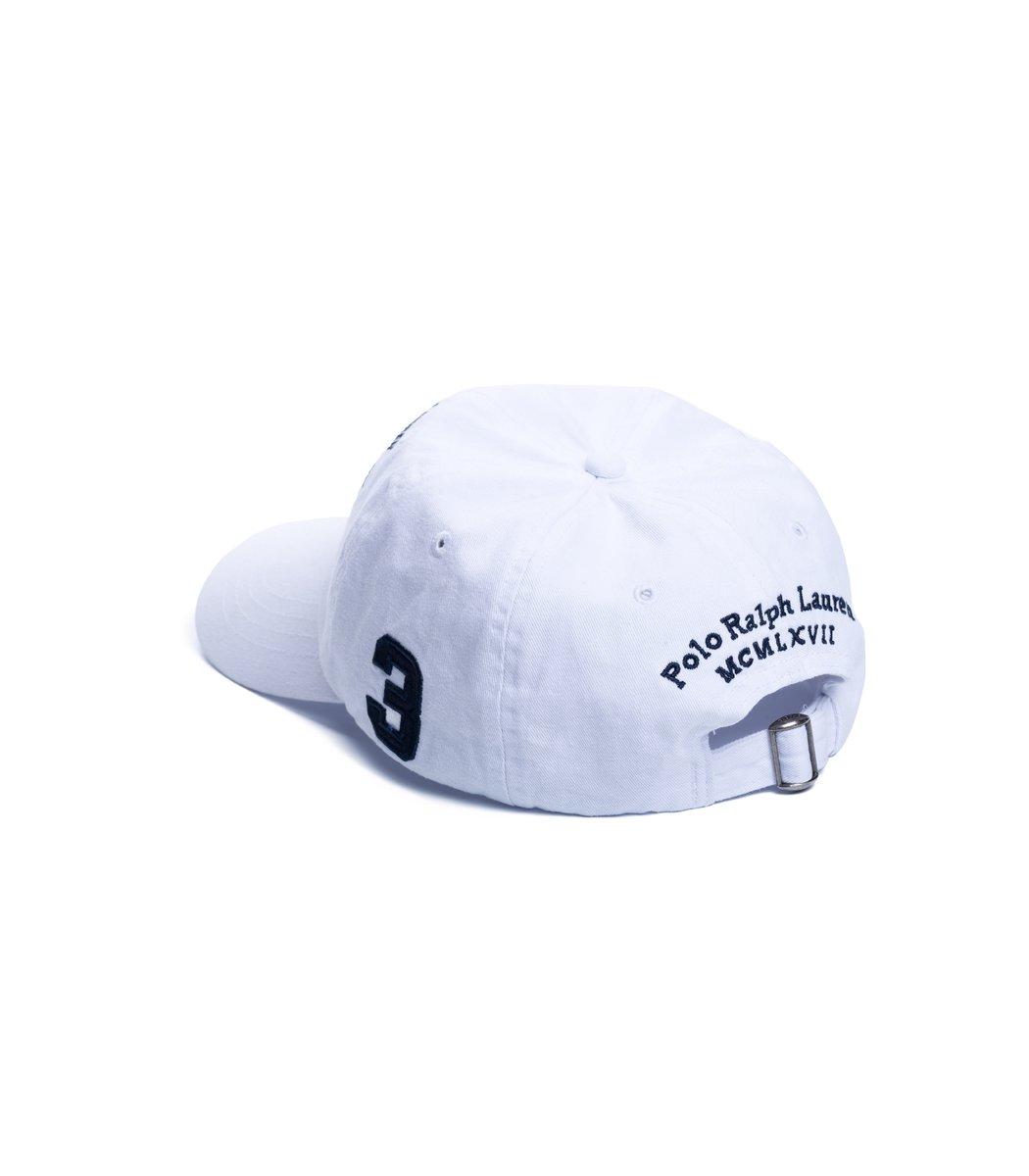 Кепка POLO Ralph Lauren Classic 6 Белый/синий - Белый - Вид 2