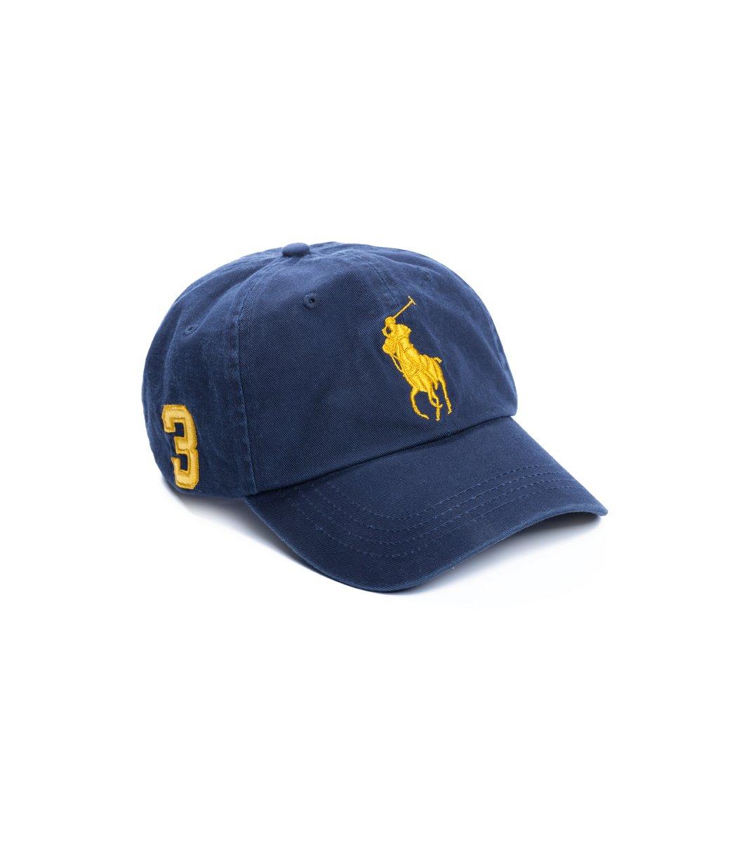 Кепка POLO Ralph Lauren Classic 3 Тёмно-синий/жёлтый