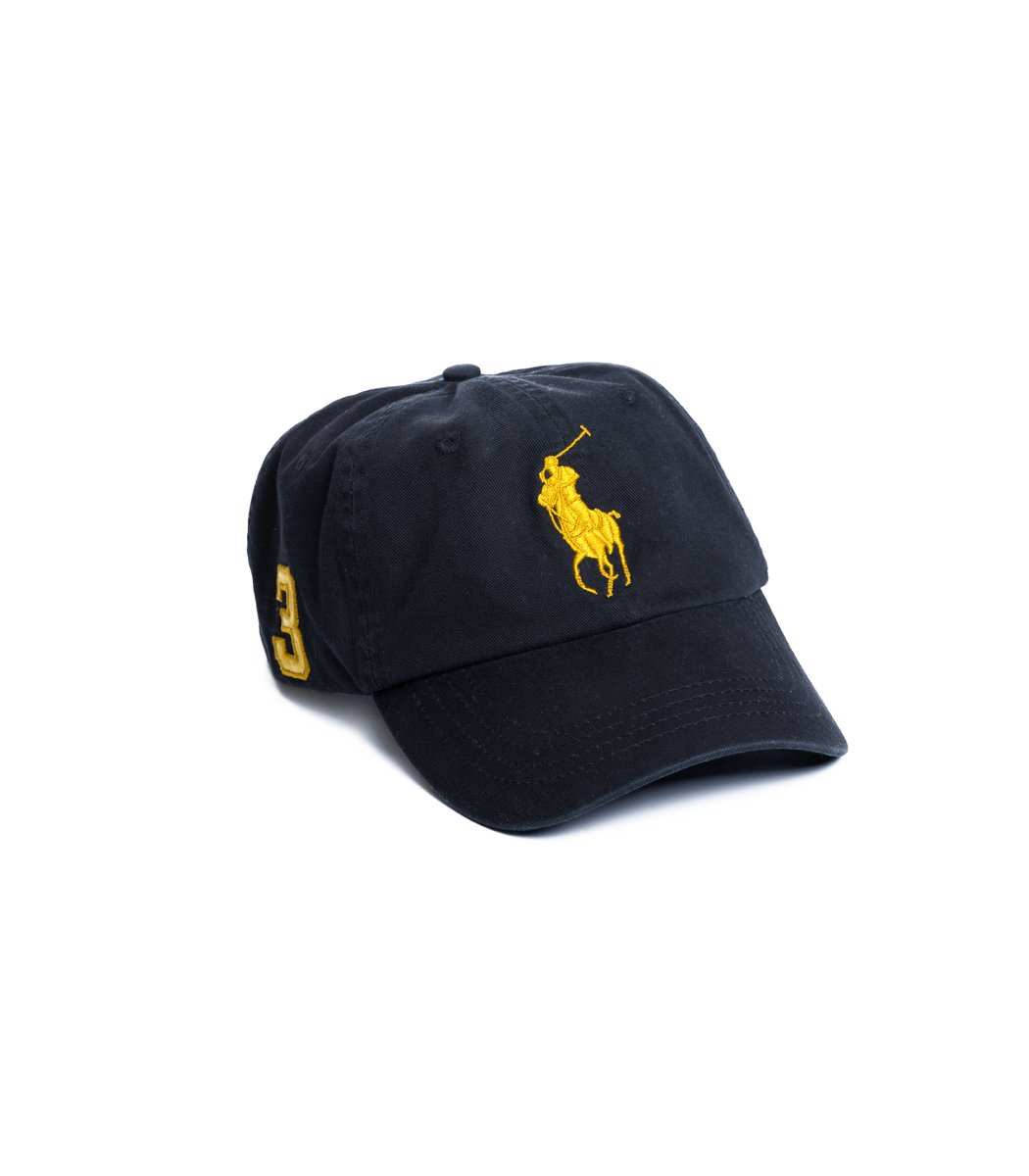 Кепка POLO Ralph Lauren Classic 3 Чёрный/жёлтый