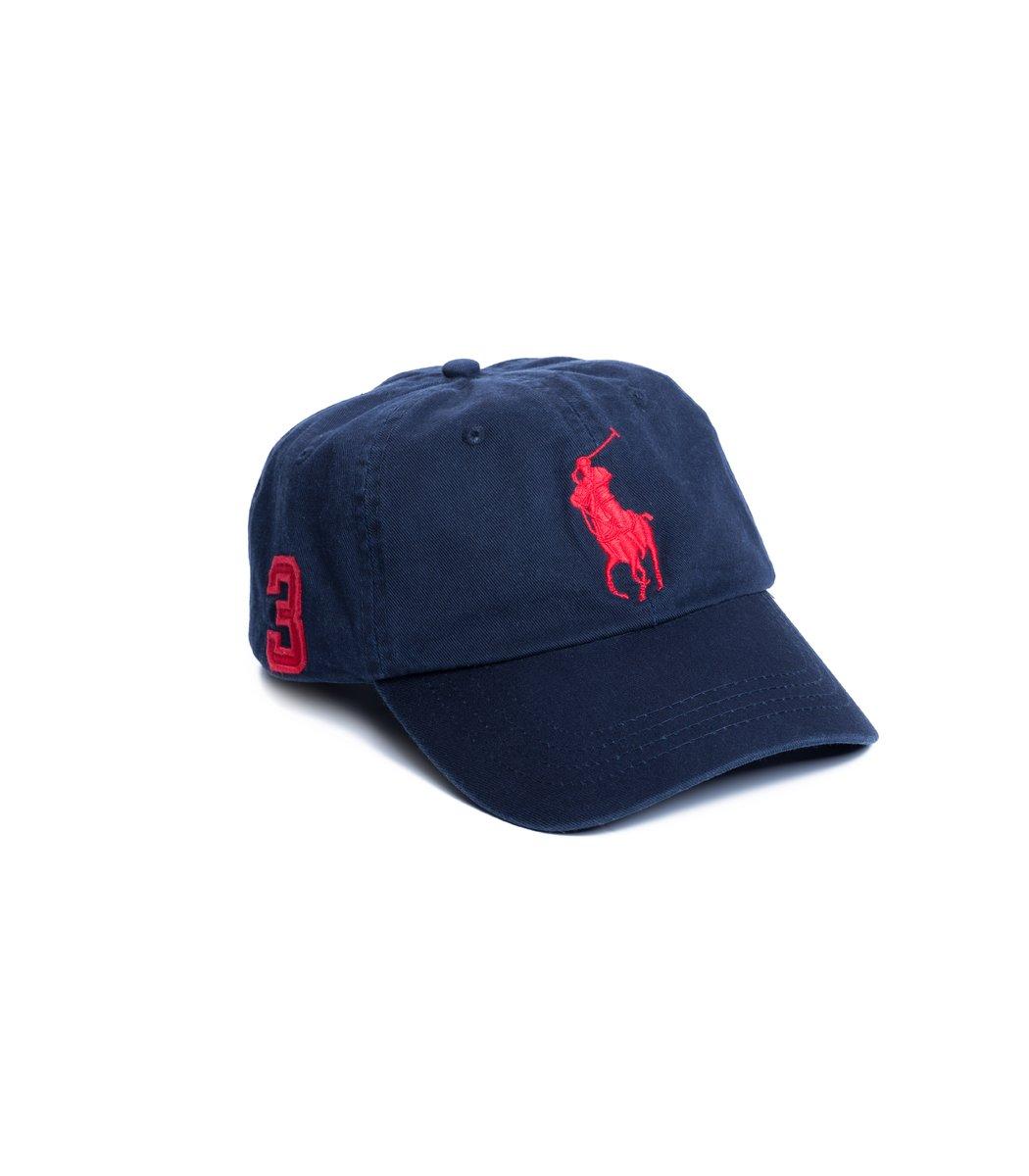 Кепка POLO Ralph Lauren Classic 3 Тёмно-синий/красный