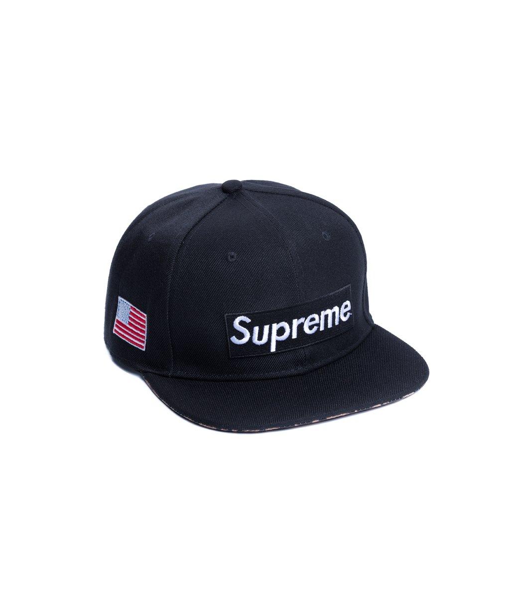 Бейсболка  Supreme USA Чёрный/чёрный