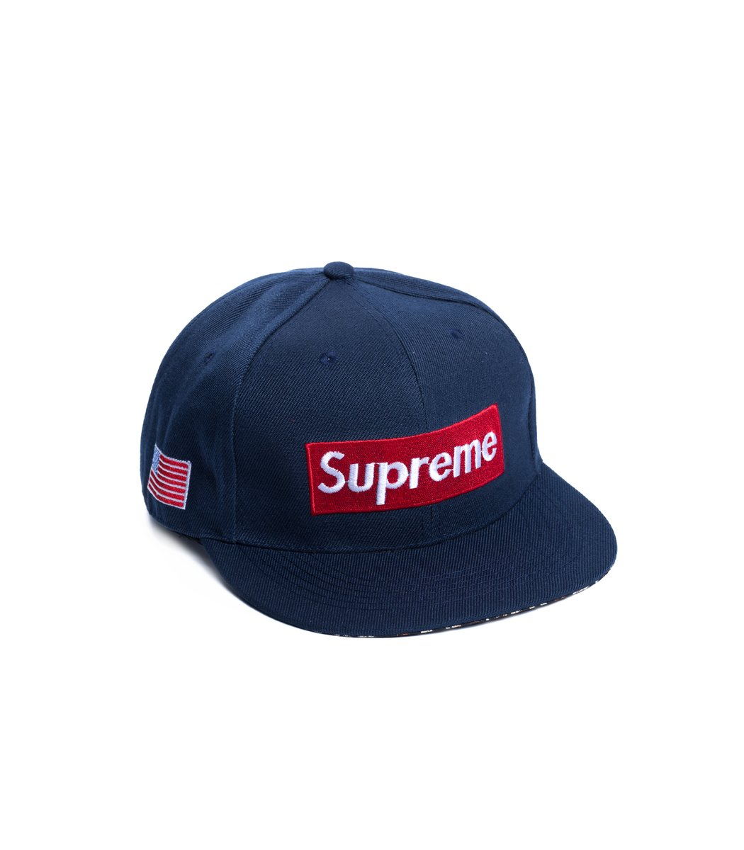 Бейсболка  Supreme USA Синий/красный