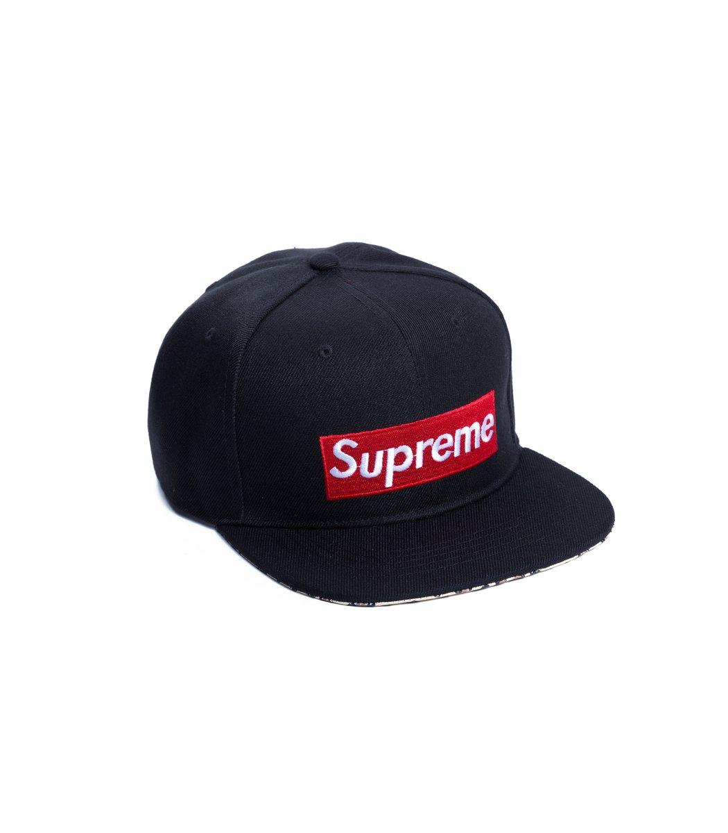 Бейсболка  Supreme USA Чёрный/красный