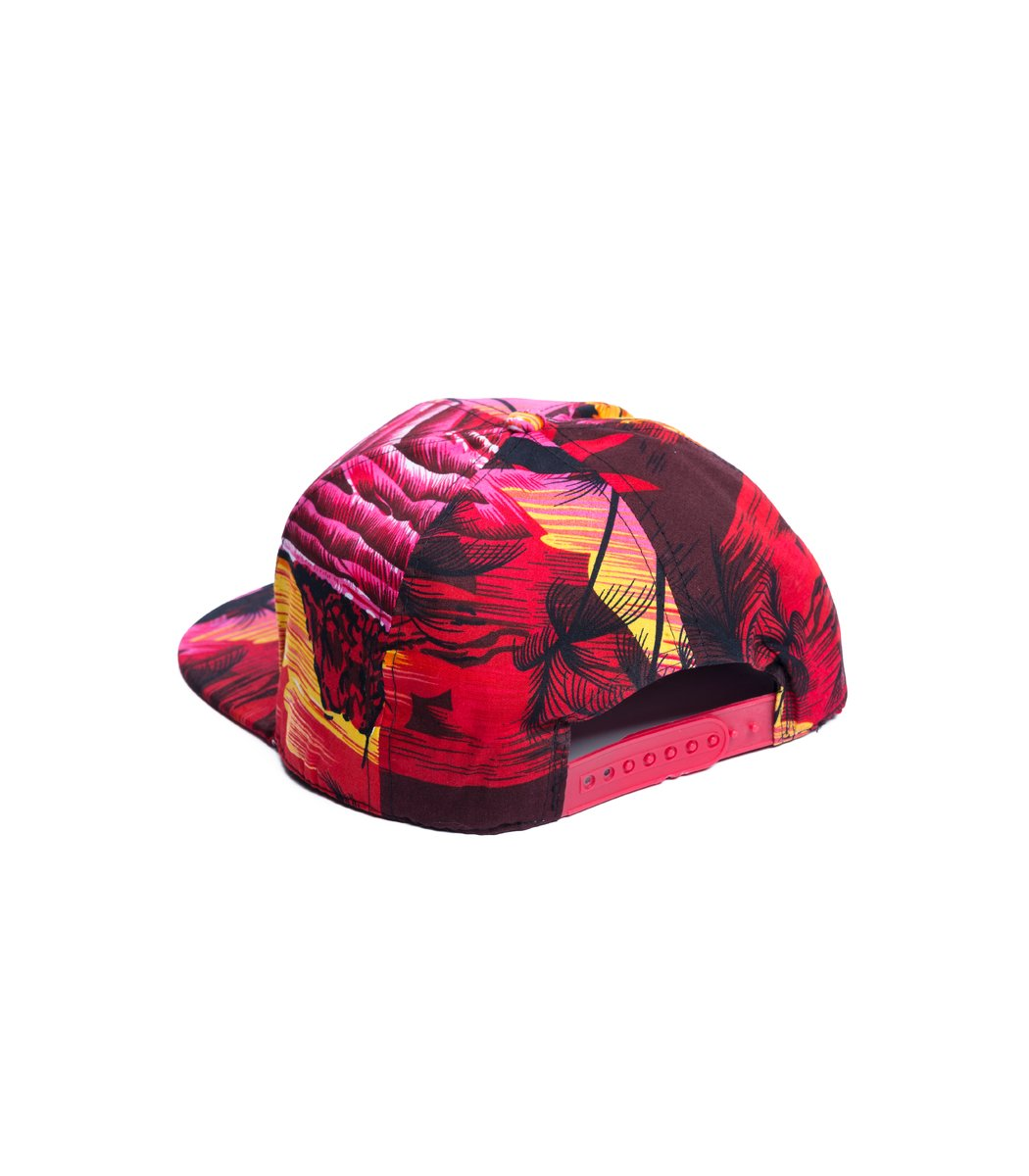 Бейсболка  Supreme Tropic Красный