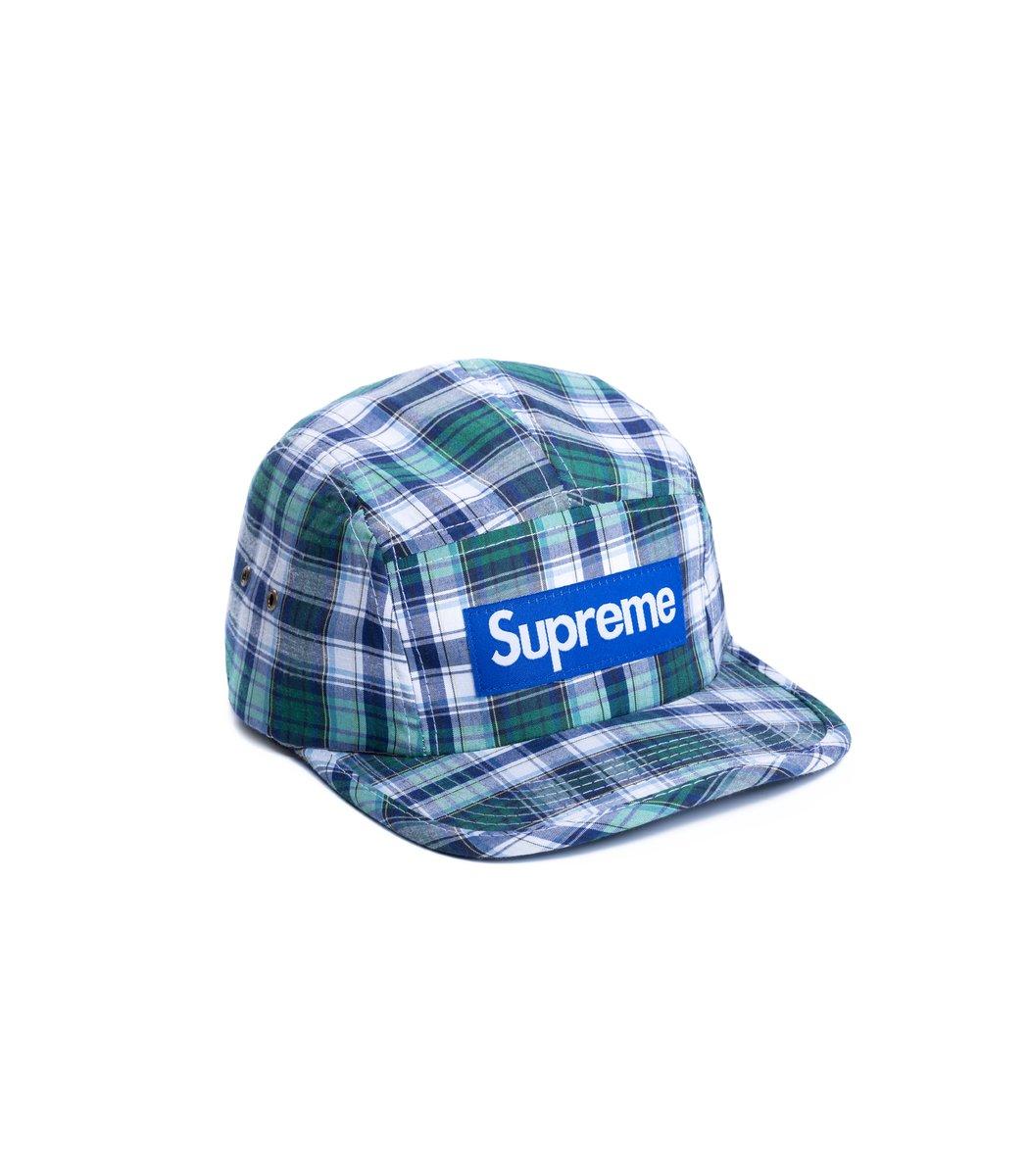 Кепка Supreme Cell (серо-зелёный/голубой) - Вид 1