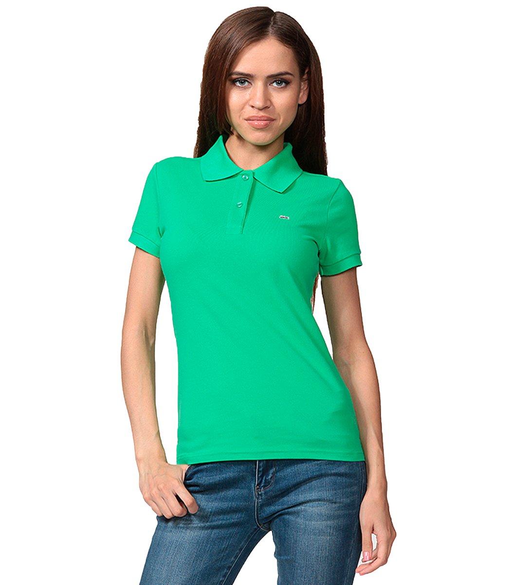 252404efebf34 Купить женскую зеленую футболку поло Lacoste в Москве