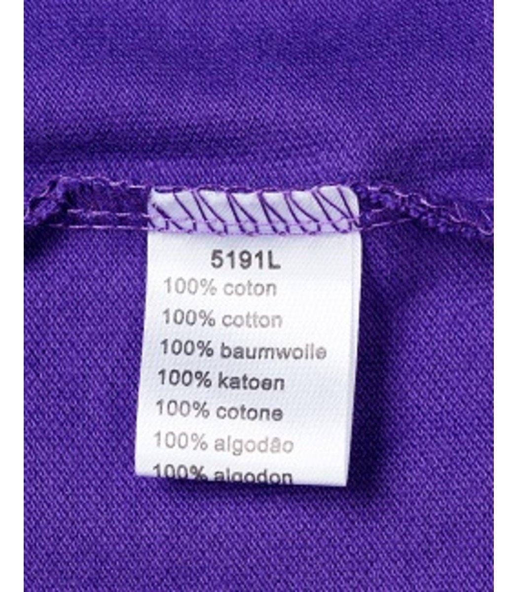 Женская фиолетовая футболка поло Lacoste - фиолетовый - Вид 5
