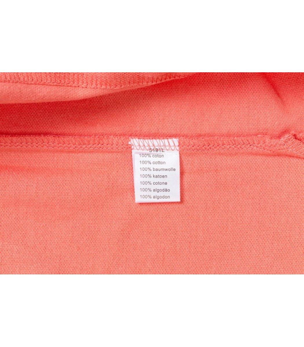Женская персиковая футболка поло Lacoste - персиковый - Вид 5