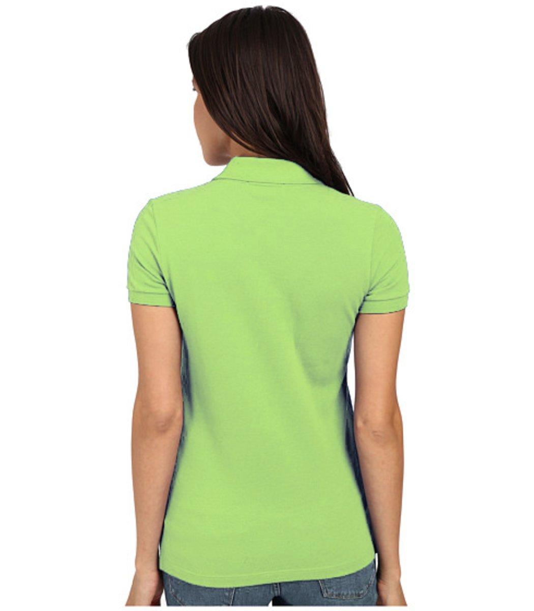 Женская салатовая футболка поло Lacoste  - салатовый - Вид 2