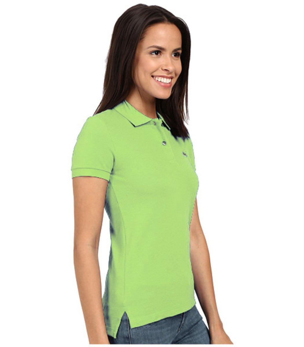Женская салатовая футболка поло Lacoste