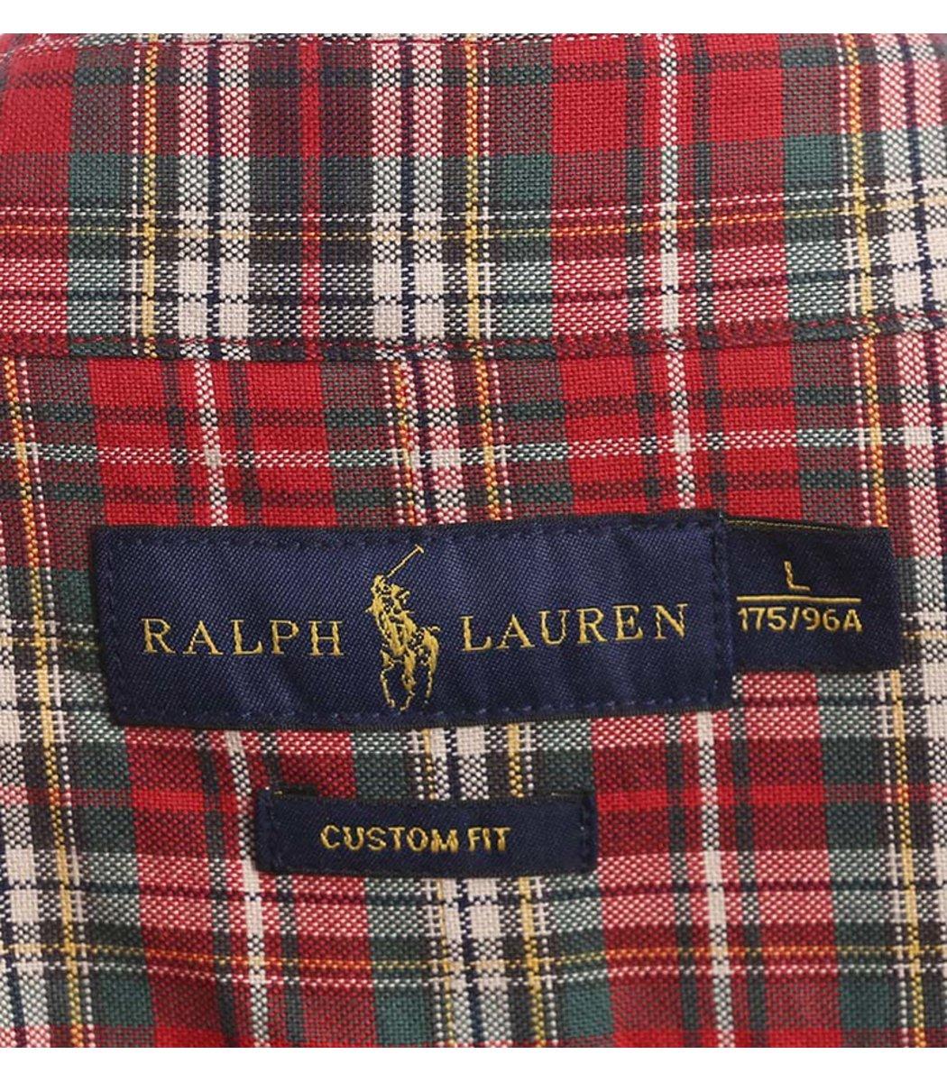 Рубашка POLO Ralph Lauren CELL CCC (Красный/Белый/Зеленый)