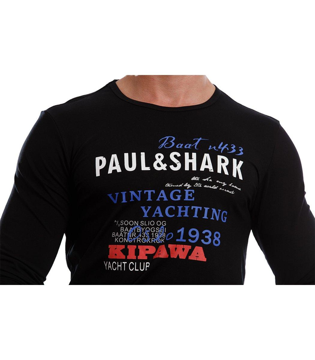 Черный лонгслив Paul&Shark L2