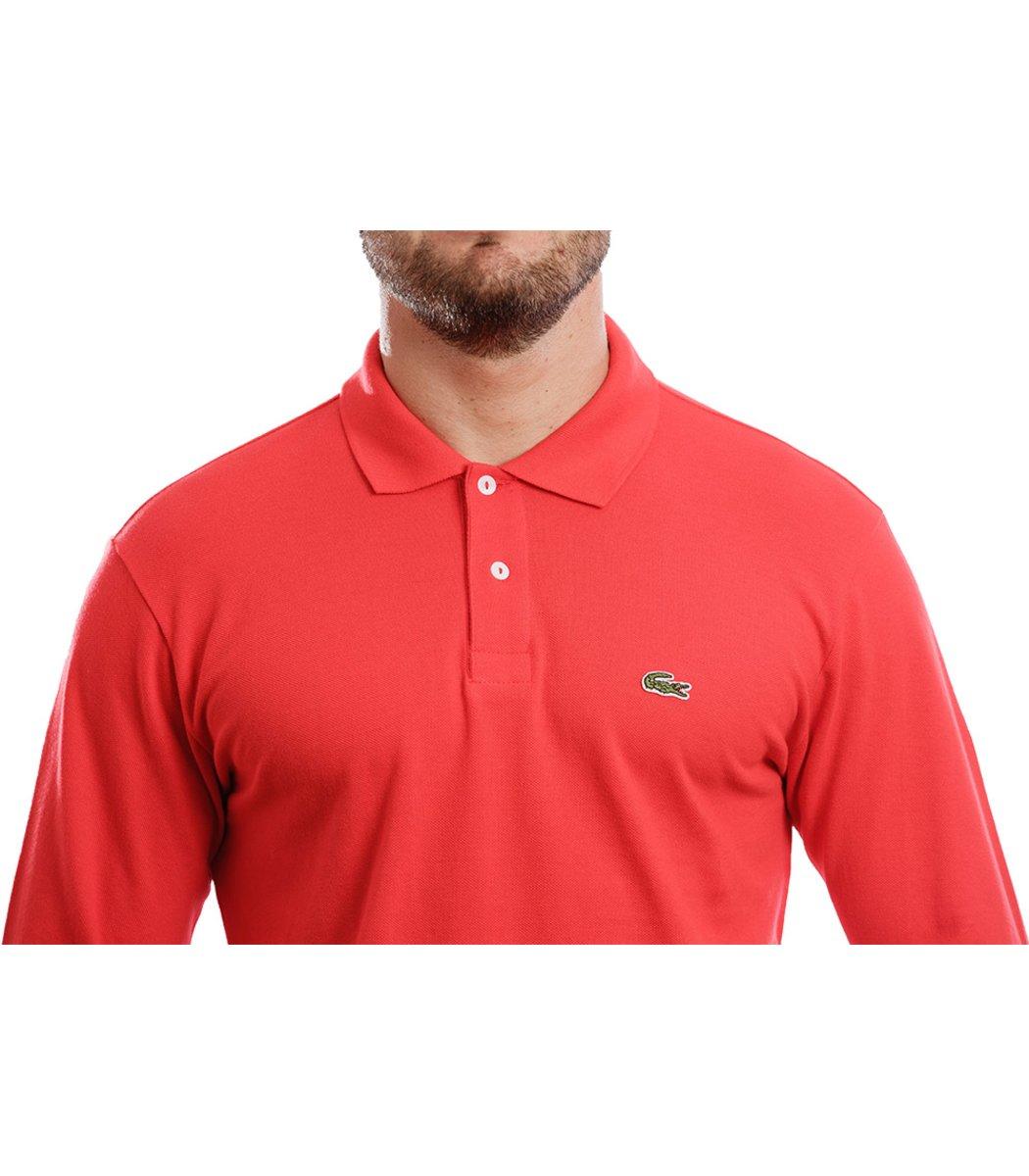 Поло с длинным рукавом Lacoste Classic (Красный)