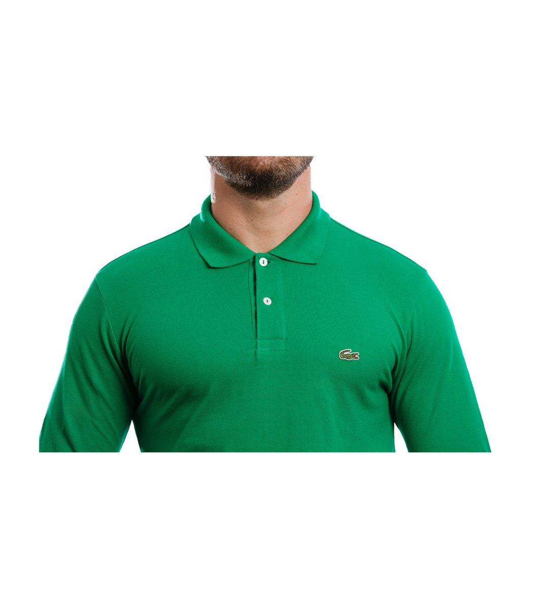 Поло с длинным рукавом Lacoste Classic (Зеленый)