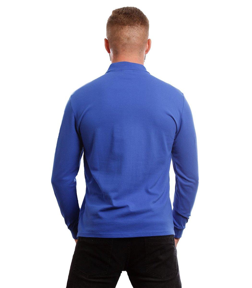 Поло с длинным рукавом Lacoste Classic (Синий) - Синий - Вид 5