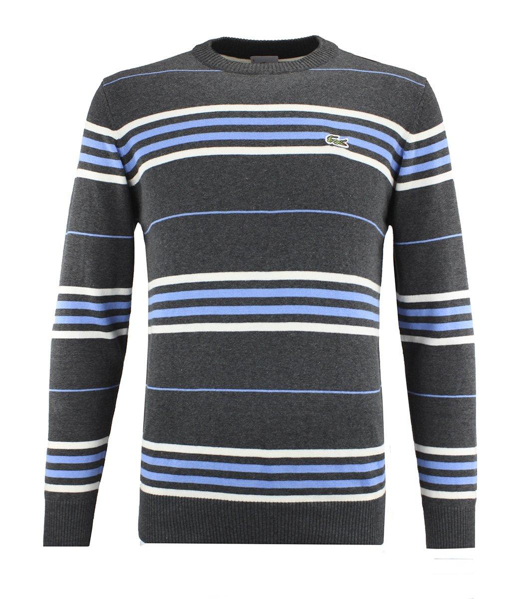 Джемпер в полоску Lacoste JL1 (Серый/Голубой)