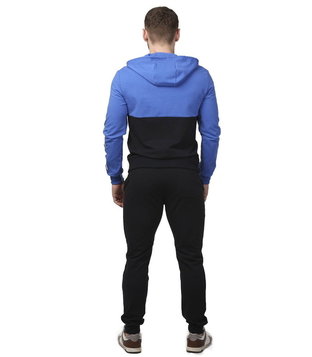 Спортивный костюм с капюшоном EA7 (голубой/темно-синий)
