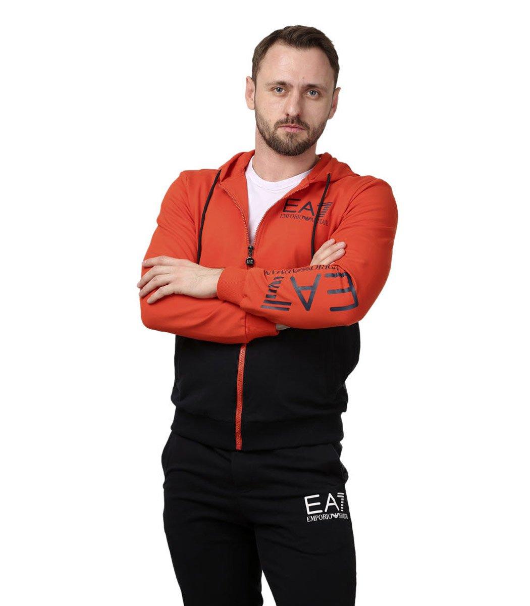 Спортивный костюм с капюшоном EA7 (красный алый/синий)