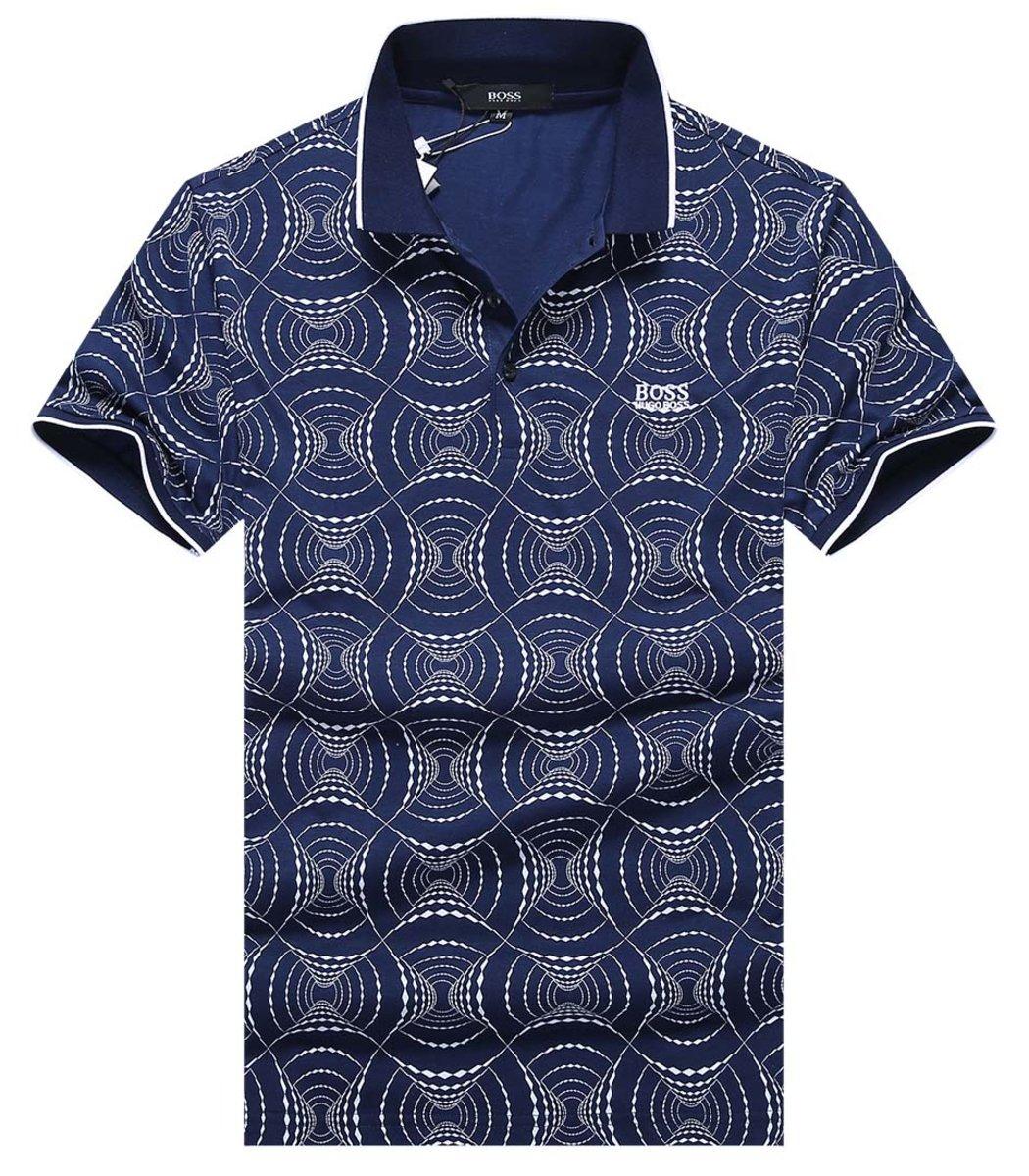 Синяя футболка Hugo Boss Print2