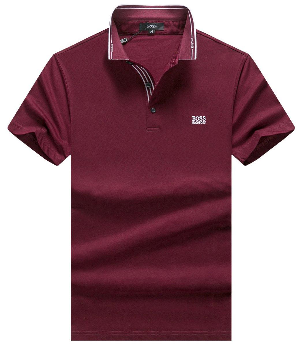 Темно -красная футболка Hogo Boss HB2
