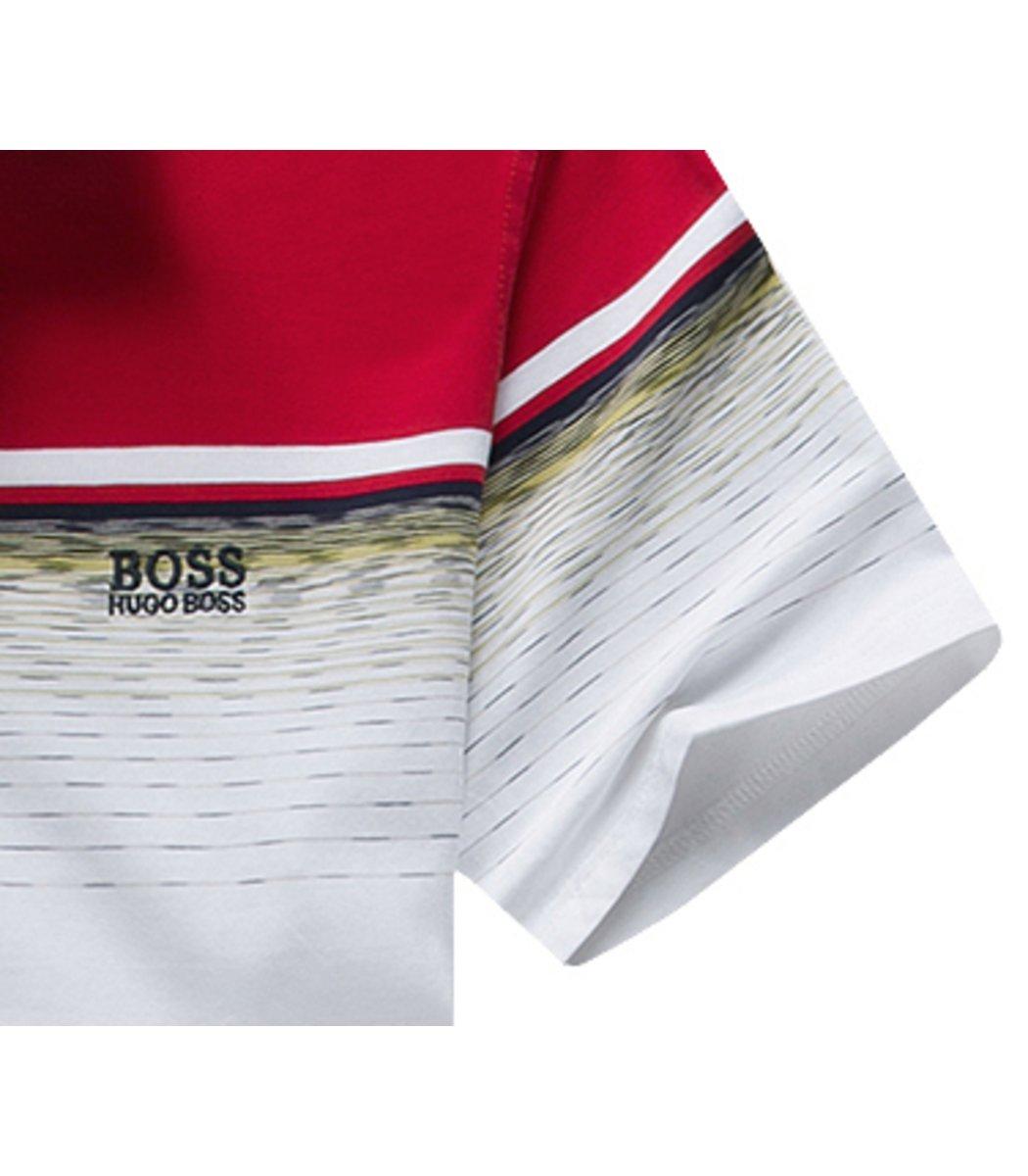 Красная футболка Hugo Boss Print3 - Красный - Вид 4