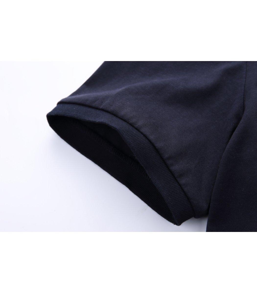 Темно синяя футболка Paul Shark N001 - темно-синий - Вид 6