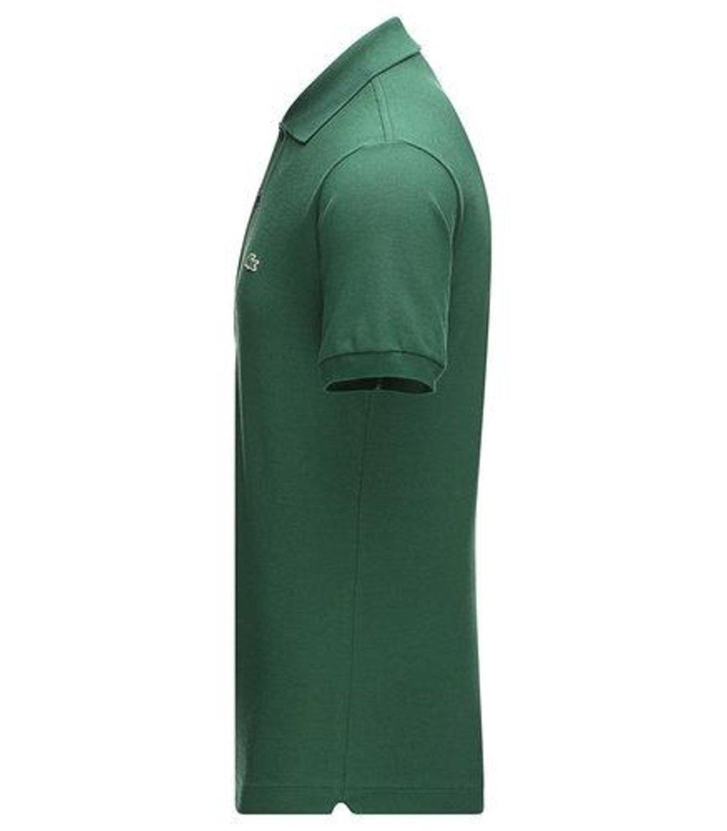 Мужская темно-зеленая футболка поло Lacoste  - темно-зеленый - Вид 3