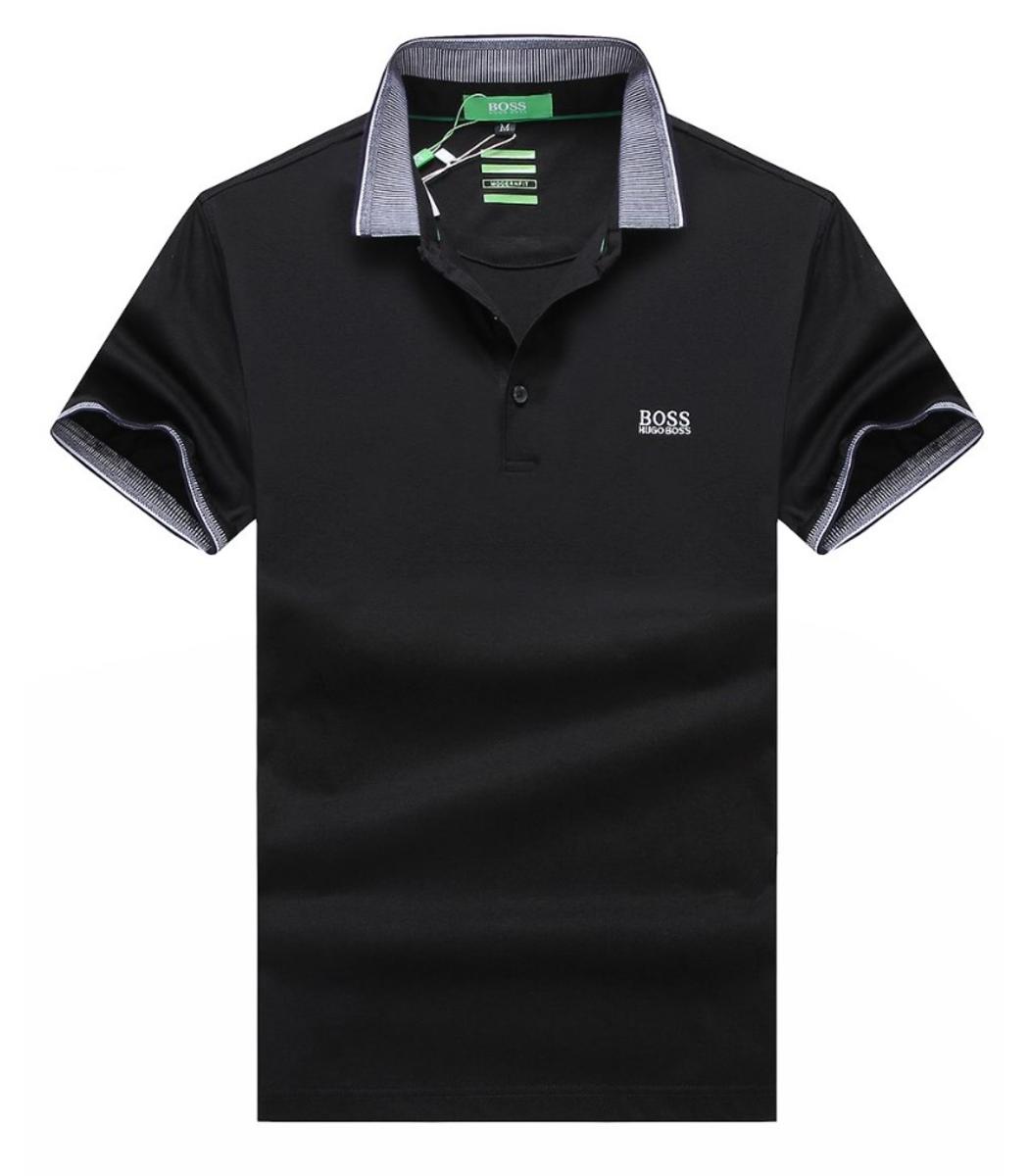 Мужская черная футболка поло Hugo Boss