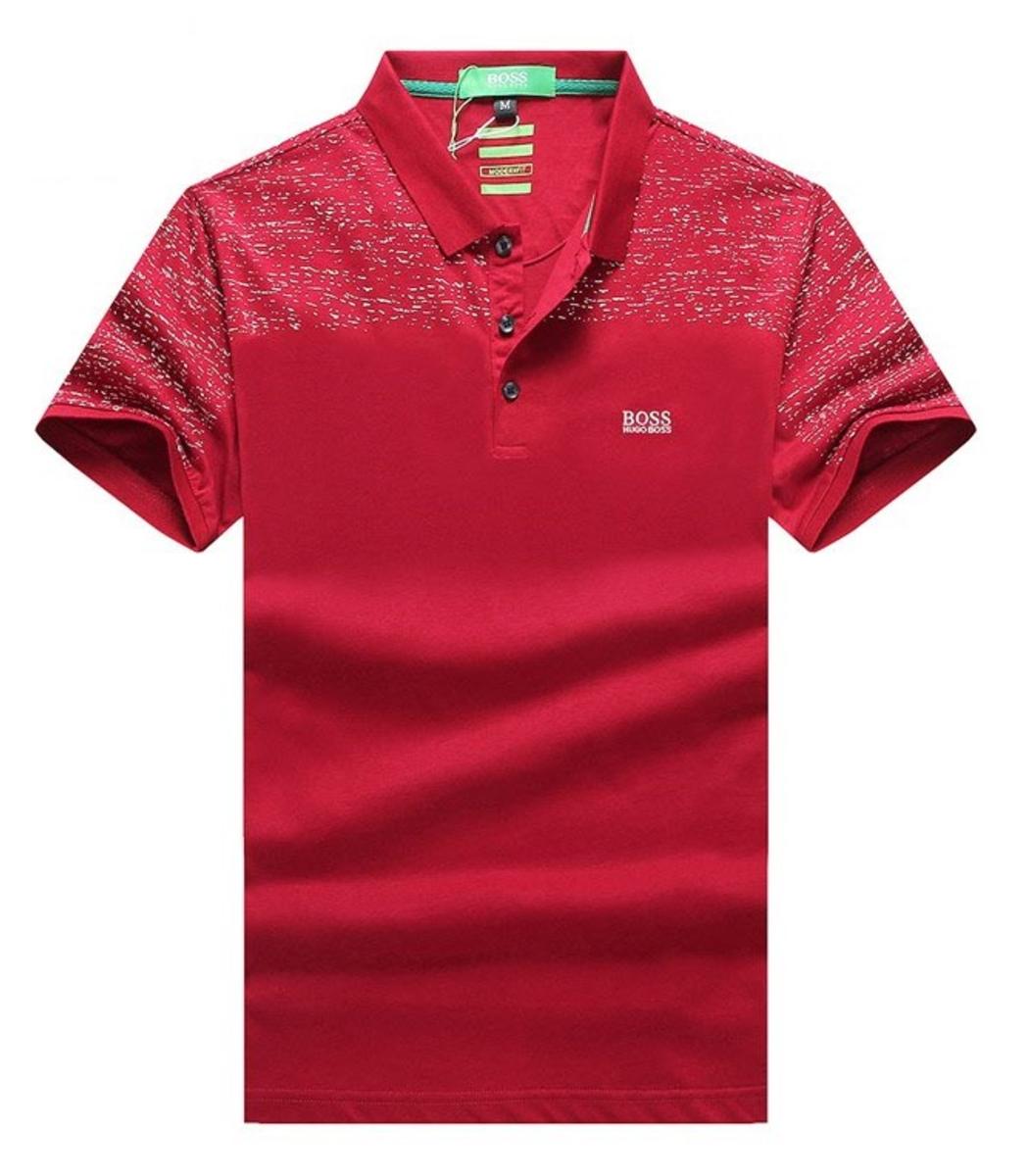 Мужская красная футболка поло Hugo Boss - красный - Вид 1