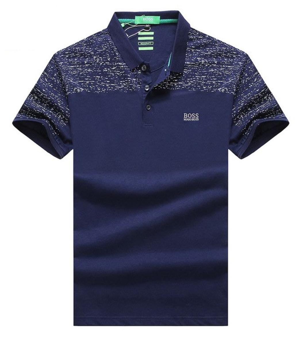 Мужская синяя футболка поло Hugo Boss - темно-синий - Вид 1