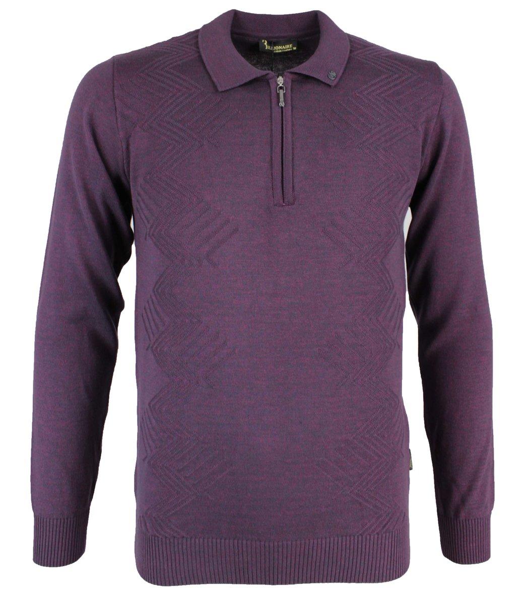 Фиолетовое  поло с длинным рукавом Billionaire 6547