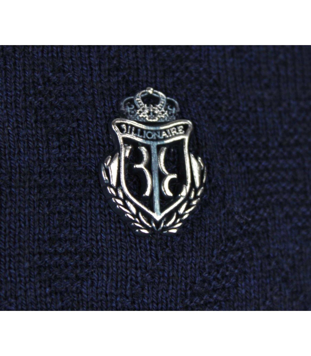 Темно-синее поло с длинным рукавом Billionaire 6735